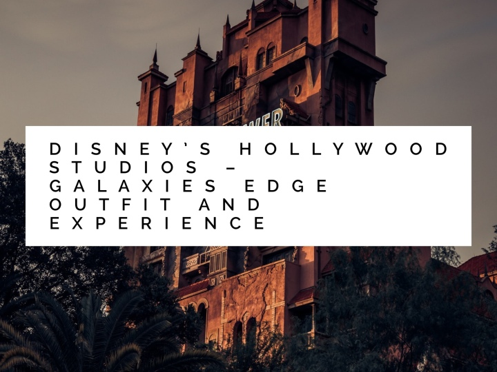 Disney's Hollywood Studios- Galaxy's Edge Outfit And Experience